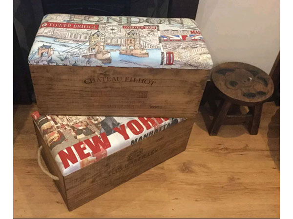 Hand made furniture from reclaimed wine crates